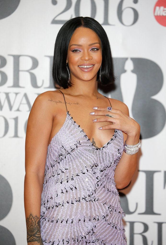Rihanna at the  Brits Awards 2016 Red Carpet