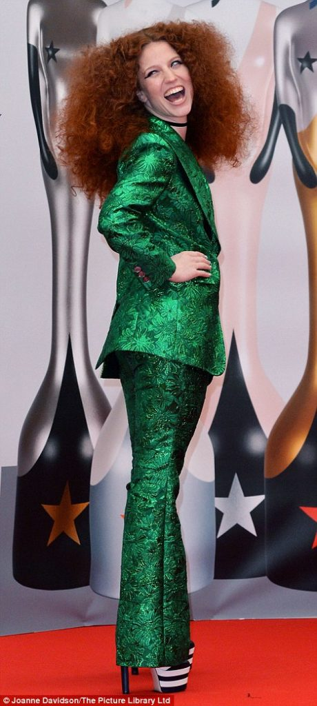 Jess Glynne  at the Brits Awards 2016