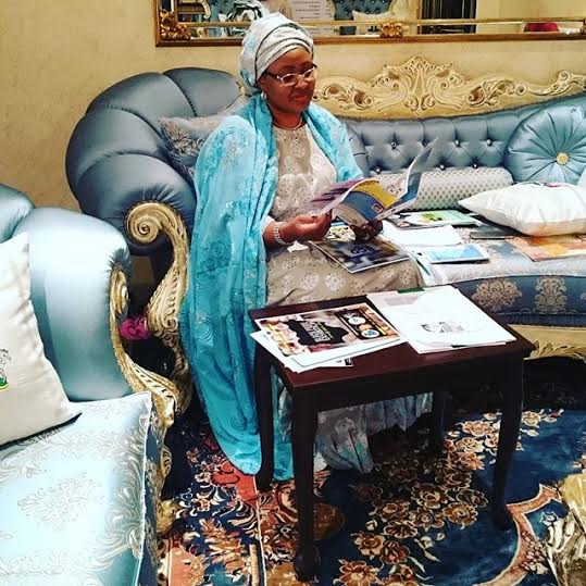 Happy Birthday to First lady Aisha Buhari as she cuts her birthday cake with President Buhari