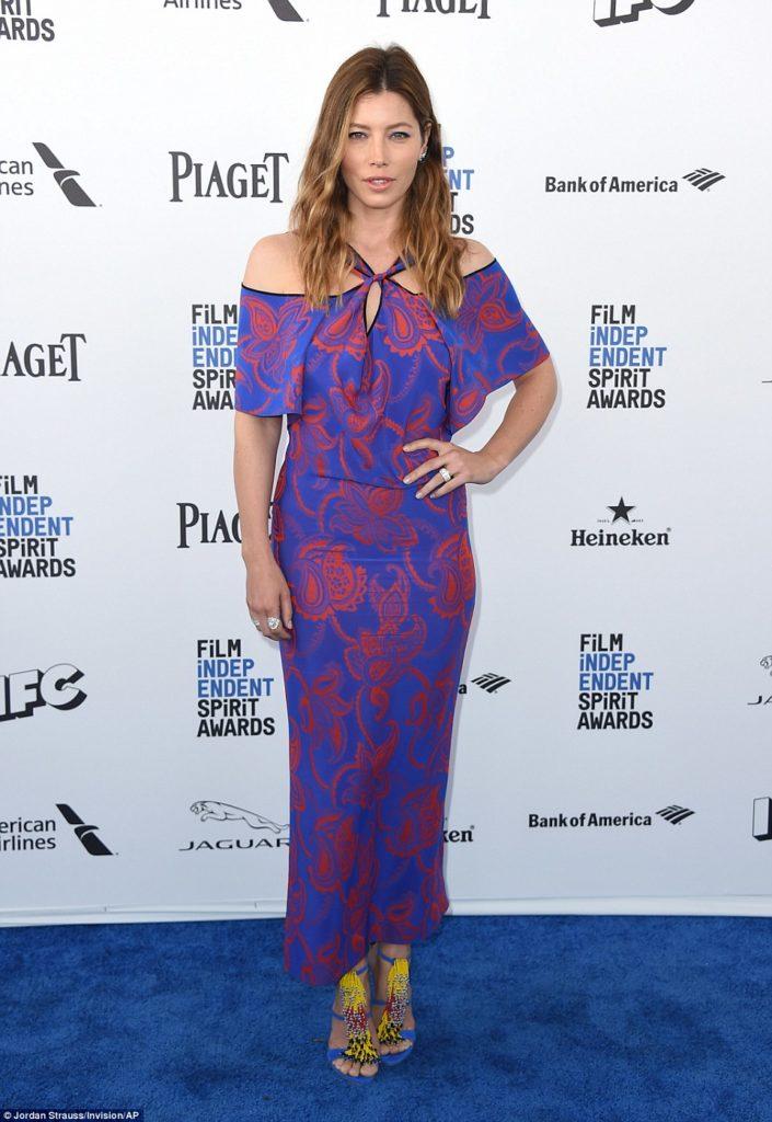 Jessica Biel at the Independent Spirit Awards 2016 Red Carpet
