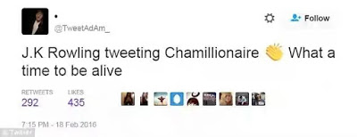 Jk Rowling takes a Jab at twitter trolls with Chamillionaire Rap Verse