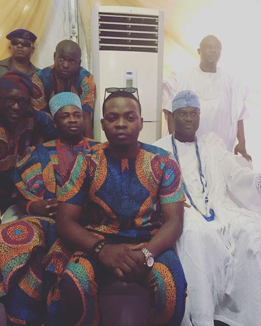 King Baddo, Olamide Chilling with the Ooni Of Ife And Oba Saheed Elegushi