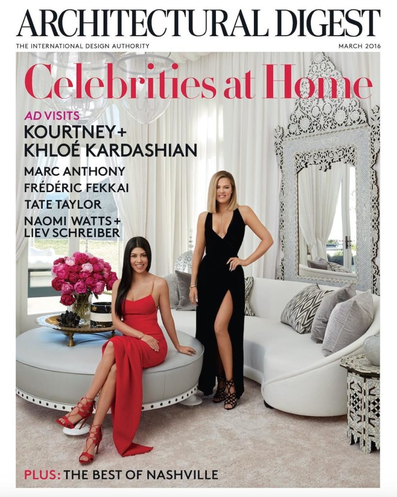 Kourtney and Khloé Kardashian Covers Architectural Digest March Edition