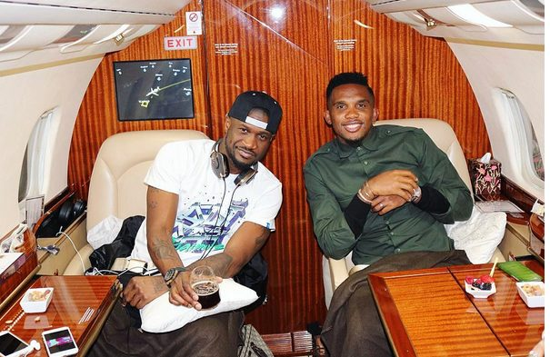 Peter Okoye of Psquare jets out with Samuel Eto'o to Turkey in a Private Jet