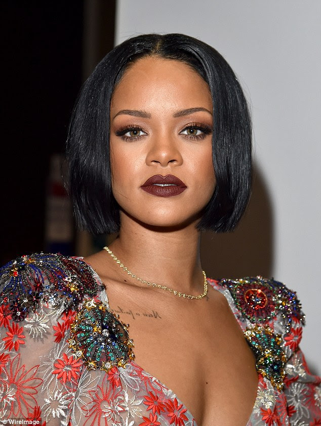 Rihanna goes Braless in See-through High Slit sheer gown for Lionel Richie's tribute event