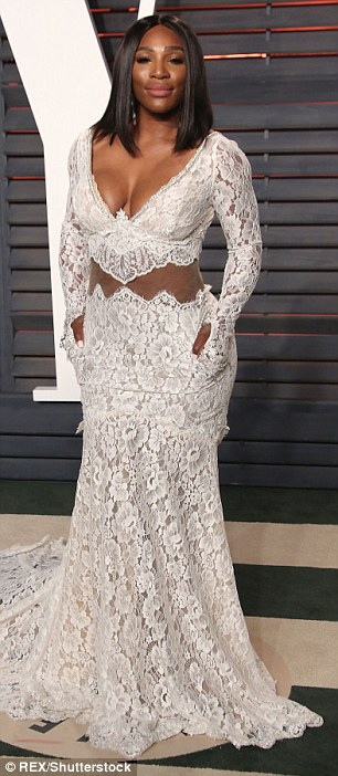 Serena Williams  on the Red Carpet of Vanity Fair Oscar Afterparty