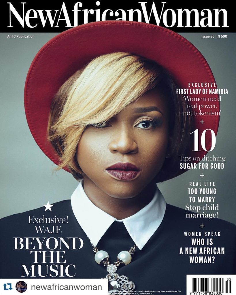 Waje Covers New African Woman February Magazine  Issue 35