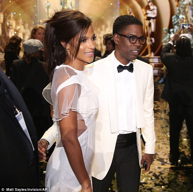 Chris Rock enjoys his Great Night with Gf Megalyn Echikunwoke and his Mum at the Vanity Fair Oscar After Party