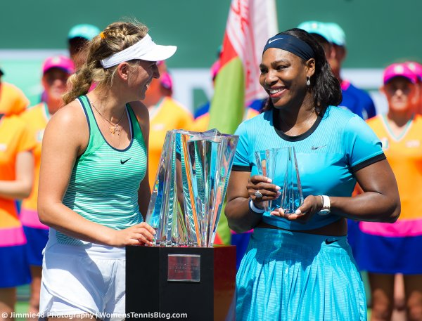 Serena Williams Photobombed Victoria Azarenka At 2016 WTA Indian wells women Final