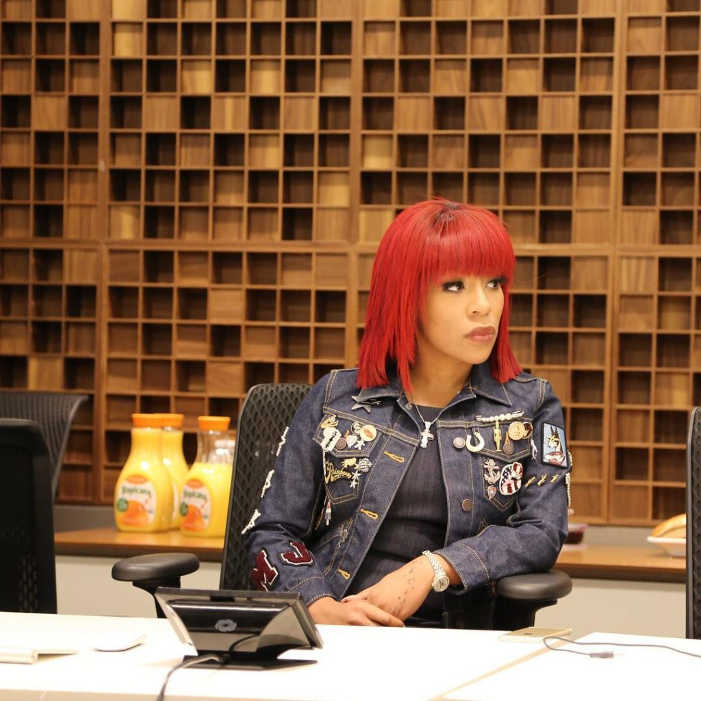 K Michelle rocks Red Hair and looked Super Sexy