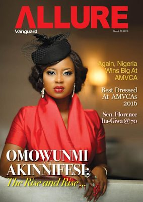 Omowunmi Akinnifesi covers  Vanguard Allure