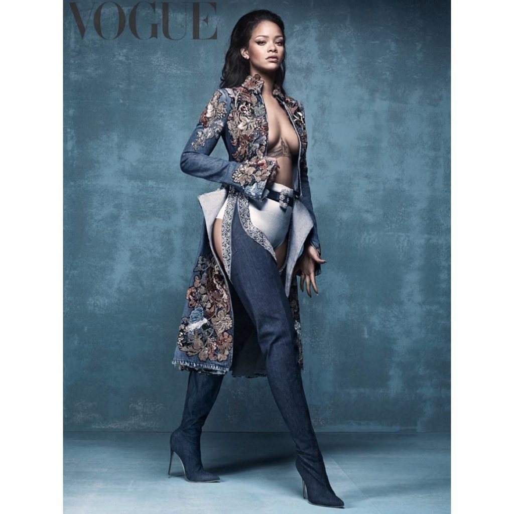 Rihanna is British Vogue Cow girl in April Magazine Issue