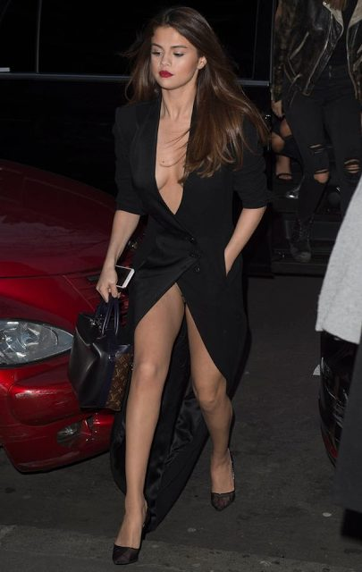 Selena Gomez Suffers Wardrobe Malfunction as she steps out In Paris for Dinner
