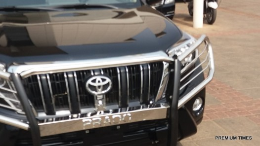 Senate President, Bukola Saraki takes Delivery of Exotic Cars worth N330 Million Naira