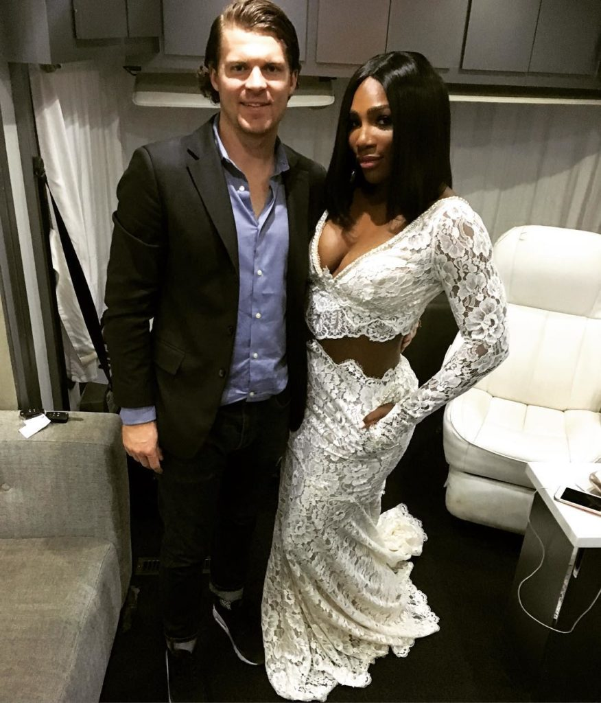Serena Williams at Vanity Fair Oscar after Party 2016