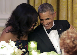The Obama's Sexy, stunningly beautiful at the Canada's PM state Dinner