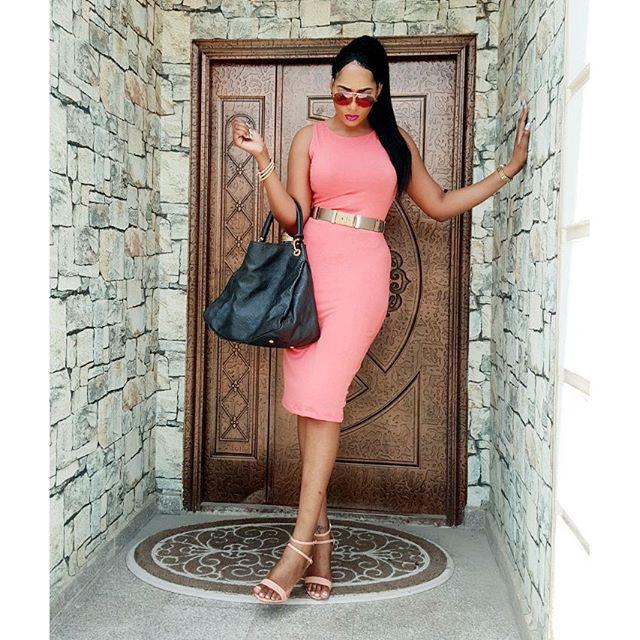 Rukky Sandra looked stunning in Pink Dress