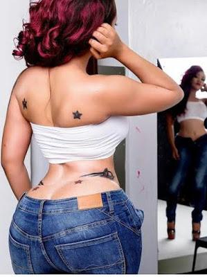 Kenyan socialite, Vera Sidika Struggles to fit into her Denim Jeans, says Jeans don't Fit
