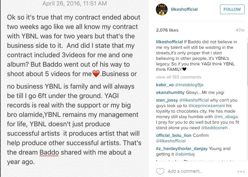 Olamide officially address rumors about Lil Kesh Leaving YBNL