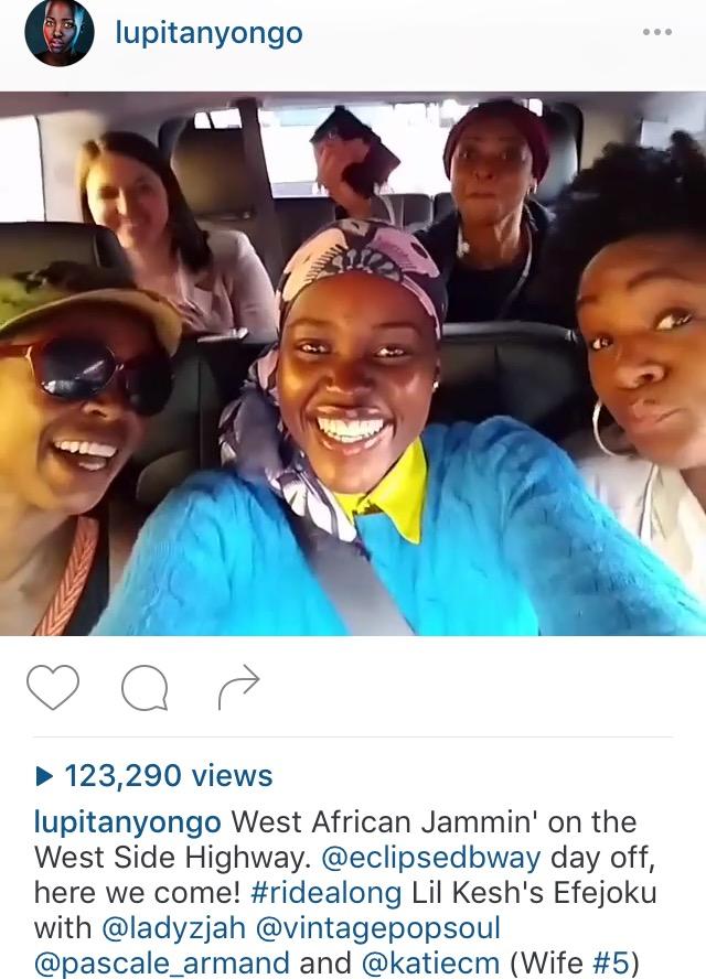Oscar winning Actress, Lupita Nyongo'o Dancing to Lil Kesh's Efejoku Song