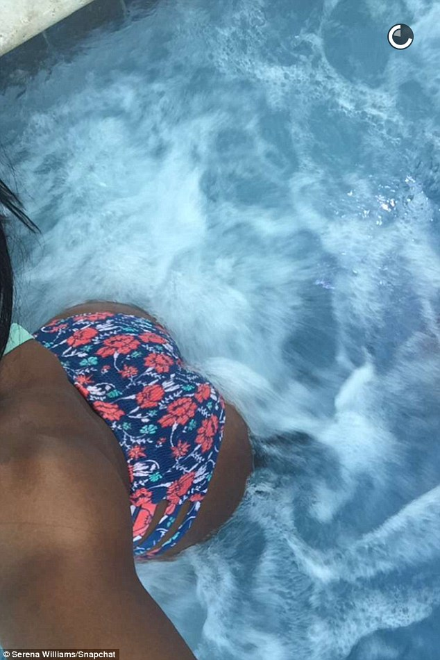 Serena Williams Shows off Her toned Bikini Bod Before Jumping into a Hot Tub