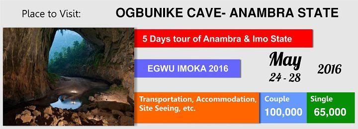 Toursom Takes you on 5 days Tour Trip to Anambra and Imo State