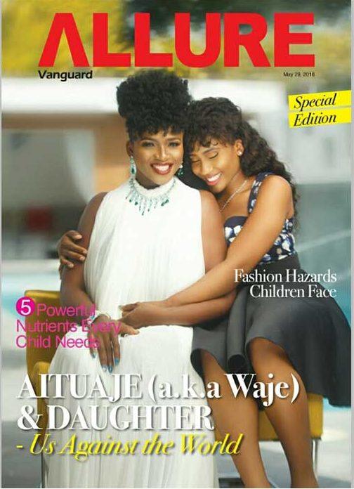 Aituaje Iruobe aka Waje and her Daughter Emerald Covers Vanguard Allure Magazine May Issue