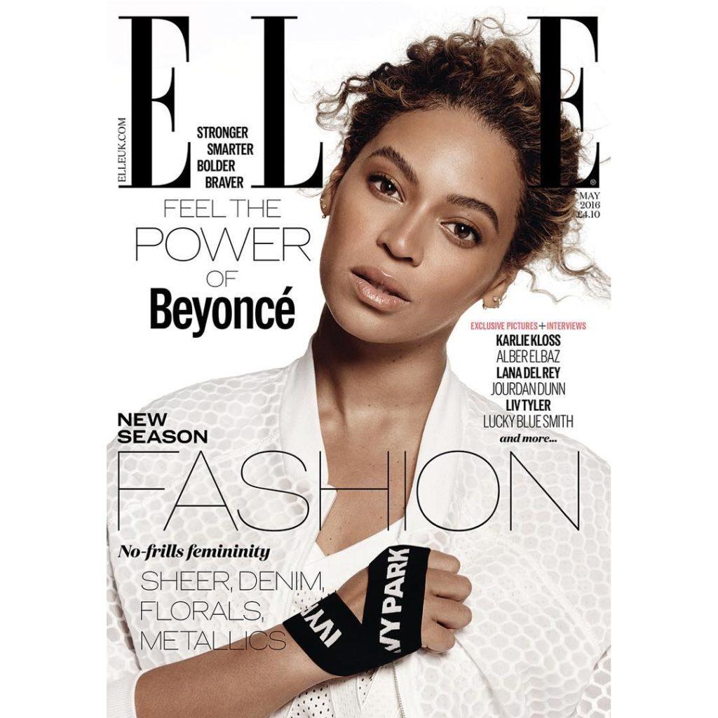Beyoncé  Covers Elle Magazine May Edition