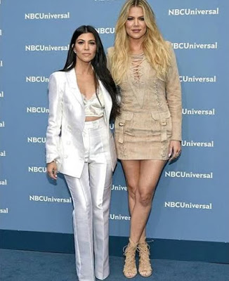 Khloe and her Siter Kourtney Kardashian looking Sexy as theyarrived at NBC Universal Upfront in New York City