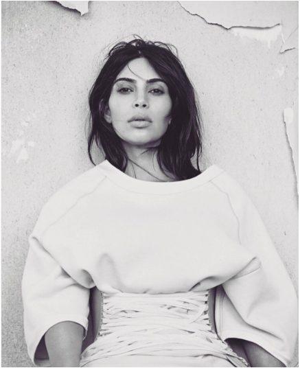 Kim Kardashian Photo-shoot for Vogue in New Yeezy Season 3 Fashion Collections