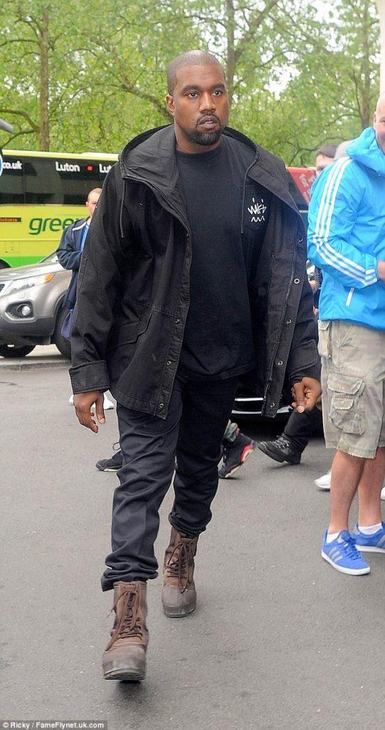 Kanye West arrives Vogue Festival in London