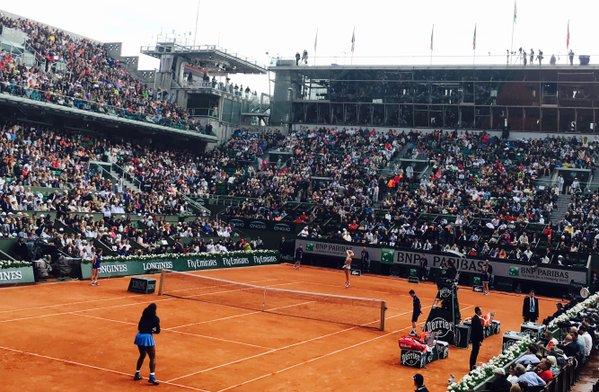 Serena Williams Overcomes French Favorite  Mladenovic, 6-4,7-6(10)