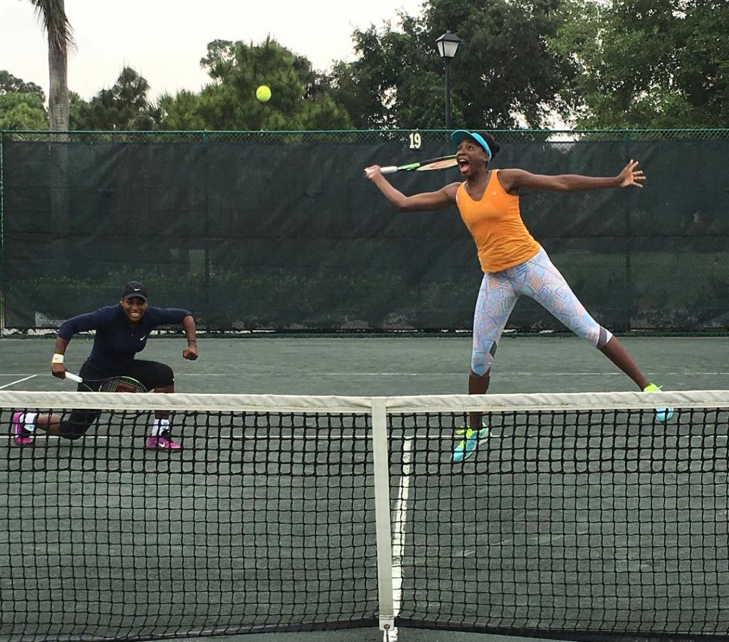 Serena Williams Shares Photo of her and Venus Williams Practicing