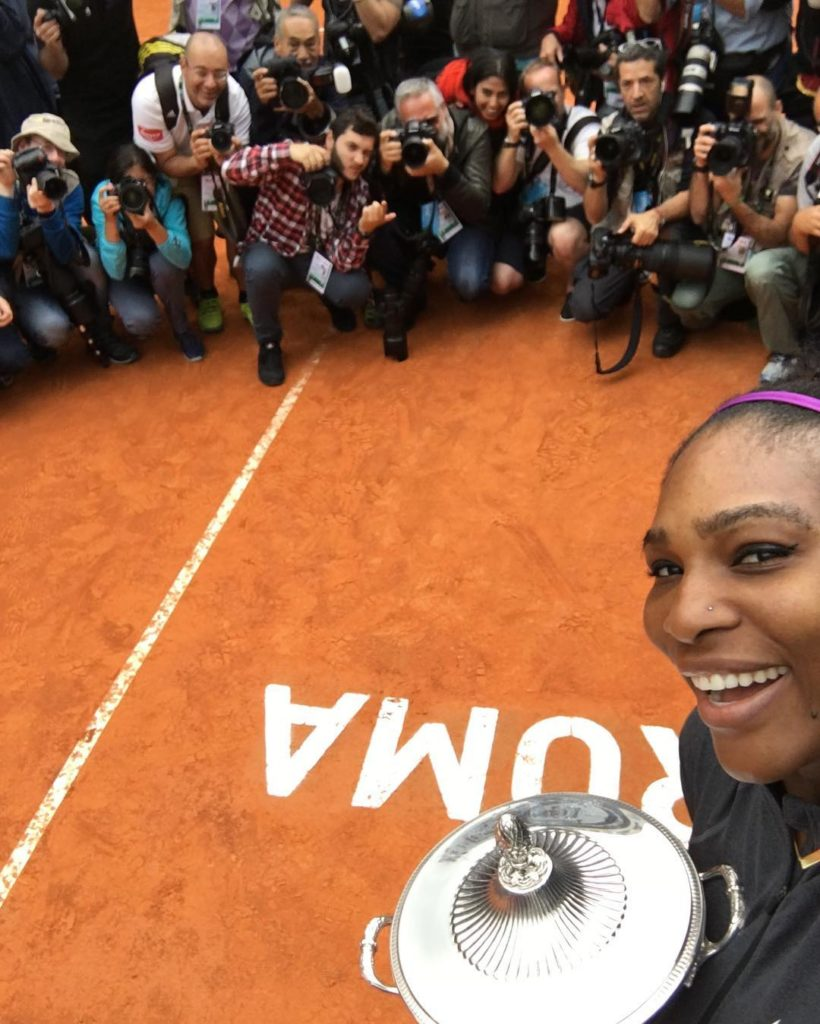 Serena Williams shares Photo of her New Dope Nike Tennis Footwear