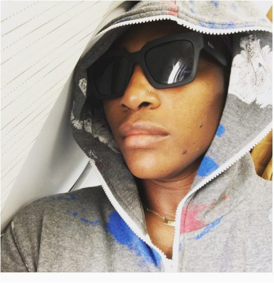 Serena Williams shares Photo  of her in a plane Heading to Paris