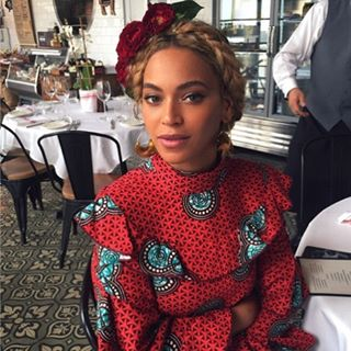 Beyonce Sexy Gorgeous as she rocks a Red Ankara Dress