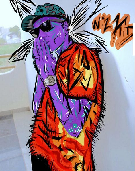 Chris Brown shares artwork of Wizkid done by him