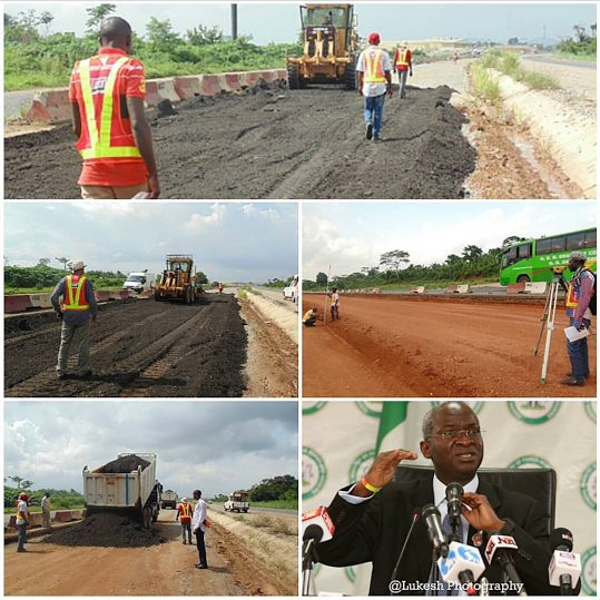 Contractors back to work, as Rehabilitation, Reconstruction and Expansion of Lagos-Ibadan expressway Resumes