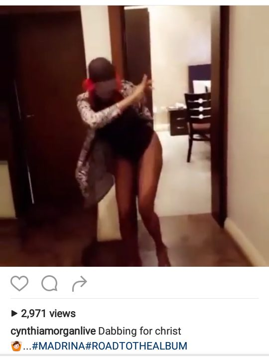 Cynthia Morgan shares Photo of her dabs for 'Christ' in sexy outfit