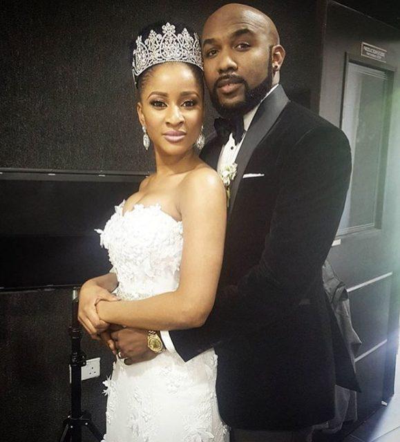 First Photos from Banky B. W and Adesua Etomi White Wedding in Lagos