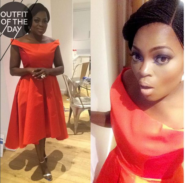 Funke Akindele Sizzles in Red Gown for London Event