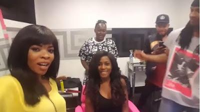 Linda Ikeji and her sister Laura Ikeji sizzles in New Hair do