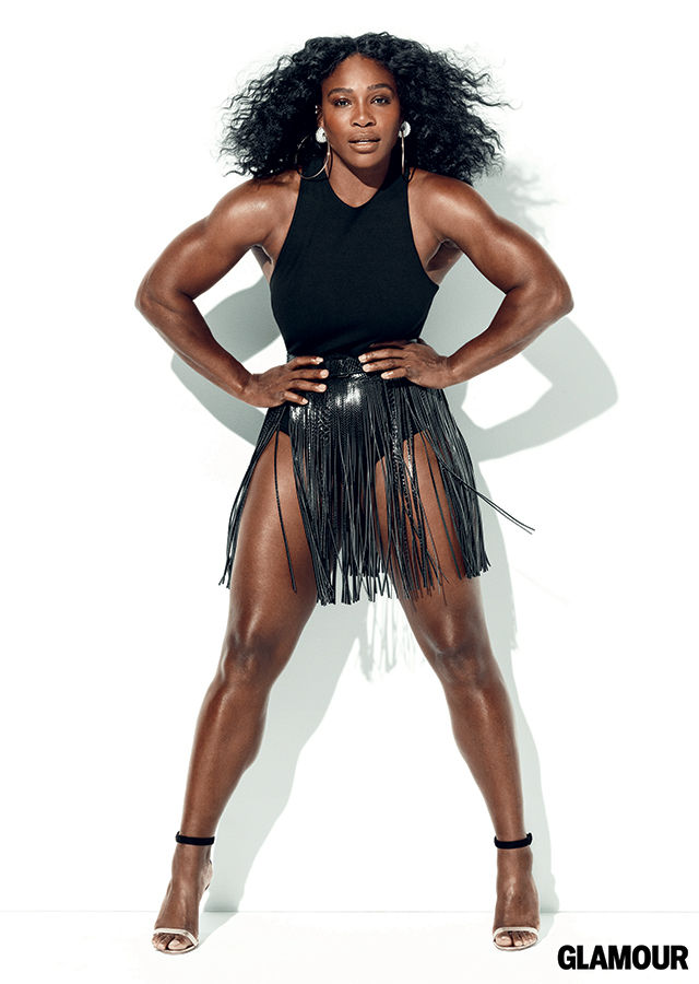 Serena Williams Slay in White Bodysuit on the Cover of July Edition of Glamour Magazine
