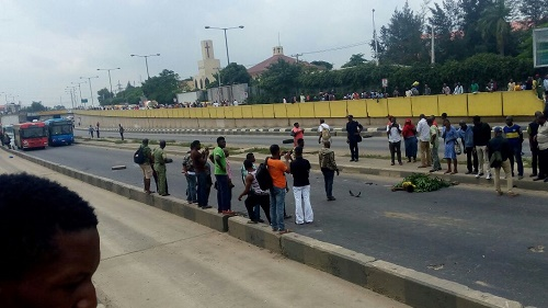 Tragedy Strikes, as 20 BRT Buses Damaged After BRT Bus Crushes Hawker to Death at Maryland