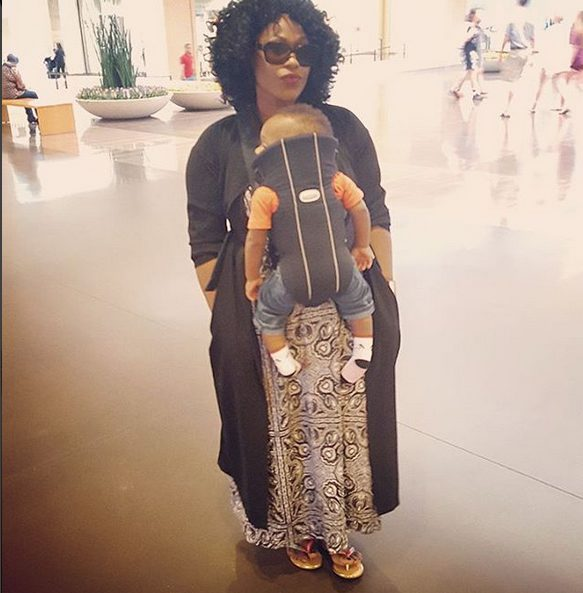 Uche Jombo Steps Out in style with her son Matthew Rodriguez