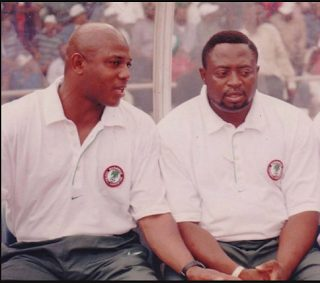 Photo of Late Stephen Keshi and Amodu Shuaibu Together