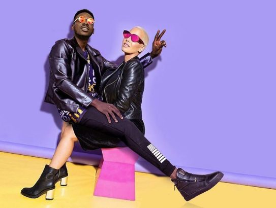 Adekunle Gold releases New Photos of Him with Amber Rose and Kim Kardashian