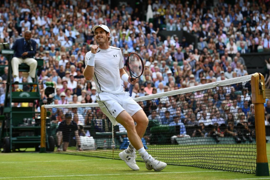 Andy Murray defeats Milos Raonic, 6-4, 7-6, 7-6, to win his 3rd career major title
