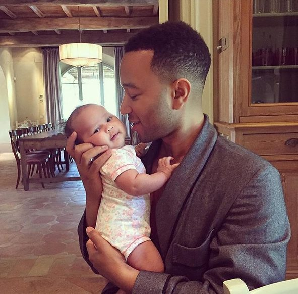Beautiful Moments for Life as John Legend Hold his Daughter baby Luna in his Arms