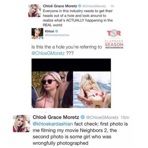 Chloe Grace Moretz slams Khloe Kardashain on Twitter